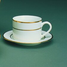 Double Gold Line 6 oz. Teacup and Saucer