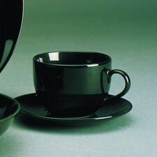 <strong>Ten Strawberry Street</strong> Black Coupe 8 oz. Teacup and Saucer