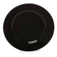 "Black Rim 6.75"" Bread and Butter Plate"