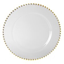 "<strong>Ten Strawberry Street</strong> Belmont Gold 13"" Charger Plate"