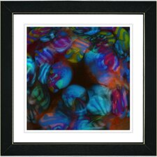 """Naomi"" by Zhee Singer Framed Giclee Print Fine Art in Blue"