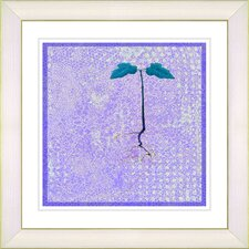 """Six Steps Off the Ground"" by Zhee Singer Framed Giclee Print Fine Art in Purple"