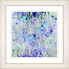 """Outside My Window Sky"" by Zhee Singer Framed Giclee Print Fine Art in Blue"