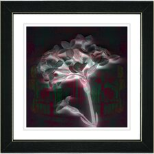 """Floral Montage"" by Zhee Singer Framed Giclee Print Fine Art in Red"