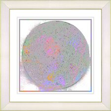 """Full Moon"" by Zhee Singer Framed Giclee Print Fine Art in White"