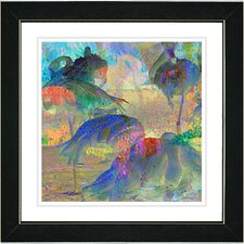 """Abstract Flamingos"" by Zhee Singer Framed Giclee Print Fine Art"