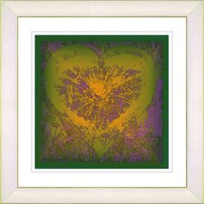 """Filigree Heart"" by Zhee Singer Framed Giclee Print Fine Art in Gold"