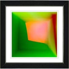 """Mind Box"" by Zhee Singer Framed Giclee Print Fine Art in Orange Green"