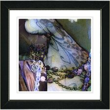 """Tattoo"" by Mia Singer Framed Giclee Print Fine Art in Blue"