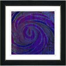 """Hybrid Histor""y by Zhee Singer Framed Giclee Print Fine Art in Blue and Purple"