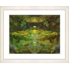 """Voice - Green"" by Zhee Singer Framed Fine Art Giclee Print"