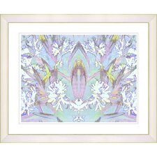 """Abstract Spring Floral - Sky Blue"" by Zhee Singer Framed Fine Art Giclee Print"