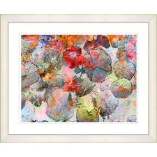 """Nasturtiums - Orange"" by Zhee Singer Framed Fine Art Giclee Print"