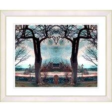 """Homestead - Turquoise"" by Mia Singer Framed Fine Art Giclee Print"
