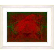 """Double Rose"" by Zhee Singer Framed Fine Art Giclee Print"