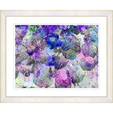 """Nasturtiums - Blue"" by Zhee Singer Framed Fine Art Giclee Print"