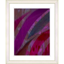 """Cinnabar - Purple"" by Zhee Singer Framed Fine Art Giclee Print"