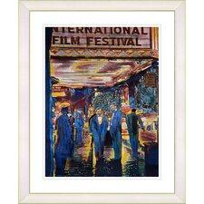 """""""Film Festival"""" by Zhee Singer Framed Fine Art Giclee Print"""