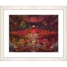 """Voice - Red"" by Zhee Singer Framed Fine Art Giclee Print"