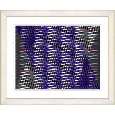 """Placidus - Blue"" by Zhee Singer Framed Fine Art Giclee Print"