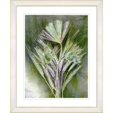 """Harvest Floral - Green"" by Zhee Singer Framed Fine Art Giclee Print"