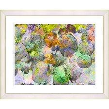 """Nasturtiums - Green"" by Zhee Singer Framed Fine Art Giclee Print"
