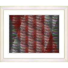 """Placidus - Red"" by Zhee Singer Framed Fine Art Giclee Print"