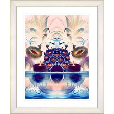 """Cut Crystal Fruit - Blue"" by Zhee Singer Framed Fine Art Giclee Print"