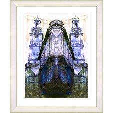 """Flatiron Building - Blue"" by Zhee Singer Framed Fine Art Giclee Print"