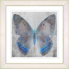 """Dusk Butterfly - Blue"" by Zhee Singer Framed Fine Art Giclee Painting Print"