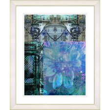 """Bustle - Blue"" by Zhee Singer Framed Fine Art Giclee Print"