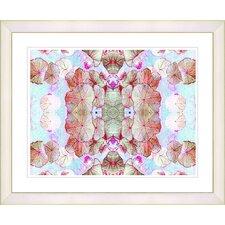 """Tide of Time Floral - Russet"" by Zhee Singer Framed Fine Art Giclee Print"