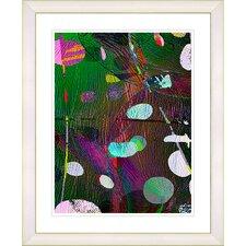 """Dark Plyos - Green"" by Zhee Singer Framed Fine Art Giclee Print"
