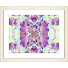 """Tide of Time Floral - Grape"" by Zhee Singer Framed Fine Art Giclee Print"