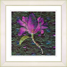 """Bliss Floral - Purple"" by Zhee Singer Framed Fine Art Giclee Print"
