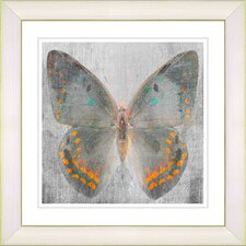 """Dusk Butterfly - Orange"" by Zhee Singer Framed Fine Art Giclee Print"