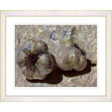 """Garlic - Beige"" by Zhee Singer Framed Fine Art Giclee Print"