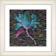 """Bliss Floral - Blue"" by Zhee Singer Framed Fine Art Giclee Print"