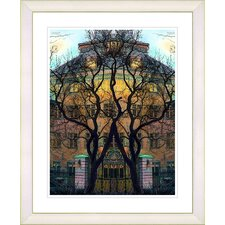 """Townhouse"" by Mia Singer Framed Fine Art Giclee Print"