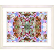 """Tide of Time Floral - Nasturtium"" by Zhee Singer Framed Fine Art Giclee Print"