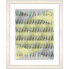 """Pastel Placidus - Yellow"" by Zhee Singer Framed Fine Art Giclee Print"