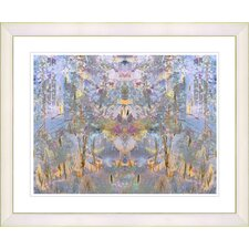 """Summer Land - Yellow"" by Zhee Singer Framed Fine Art Giclee Print"