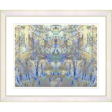 """Summer Land - Blue"" by Zhee Singer Framed Fine Art Giclee Print"