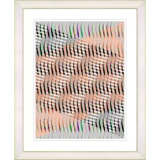 """Pastel Placidus - Orange"" by Zhee Singer Framed Fine Art Giclee Print"