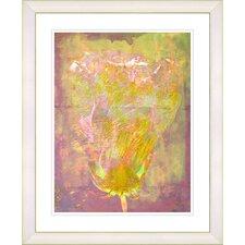 """Yellow Dansing Bud - Lavender"" by Zhee Singer Framed Fine Art Giclee Print"