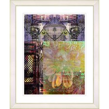 """Bustle - Yellow"" by Zhee Singer Framed Fine Art Giclee Print"