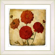 Vintage Botanical No. 50A by Zhee Singer Framed Giclee Print Fine Wall Art