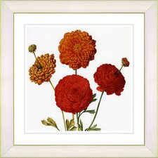 Vintage Botanical No. 50W by Zhee Singer Framed Giclee Print Fine Wall Art