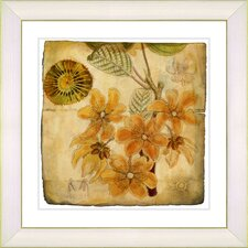 Vintage Botanical No. 23A by Zhee Singer Framed Giclee Print Fine Wall Art