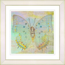 """Pastel Butterfly"" by Zhee Singer Framed Graphic Art"